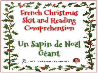 French Christmas Skit And Reading Comprehension Noël Mini Dialogue Un Sapin De Noël Géant