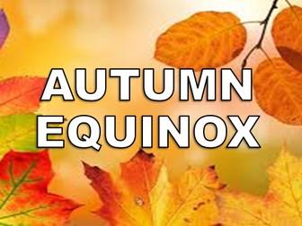 Autumn Equinox Assembly  – Presentation, Worksheet, Activity, Quiz, Autumn, First Day