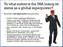 To what extent is the USA losing its status as a global superpower?