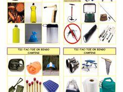 Camping Tic-Tac-Toe or Bingo
