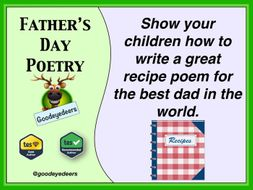 fathers day poetry make a recipe poem for your dad