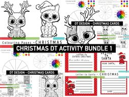 Christmas Mindfulness COLOUR THEORY | Cards to Colour | Letter to Santa | Colouring sheets  MULTIPLE ACTIVITIES
