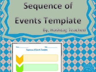 Sequence of Events Template (Differentiated)