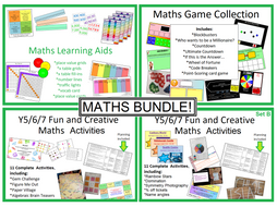 Maths Bundles: 22 Lessons, plus Games Collection and Learning Aid Collection