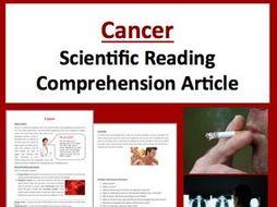 Cancer Comprehension Reading KS3
