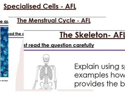 KS3 Biology 6 Mark Questions