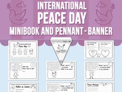 International Peace Day Minibook and Pennant - Banner