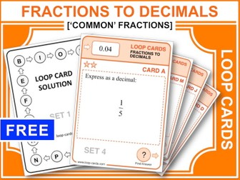 Fractions to Decimals 1 (Loop Cards)