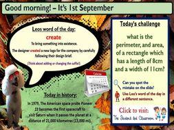 Morning Challenge Slides (September)