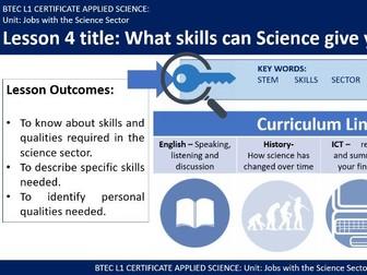 BTEC Applied Science - Science Career Skills