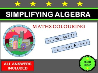 Simplifying Algebra Colouring Activity
