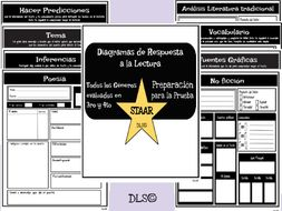 Diagramas de Respuesta a la Lectura / STAAR Reading 3rd and 4th/ TEST-PREP