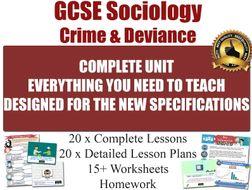 Crime & Deviance (20 Lessons) [ GCSE Sociology ]