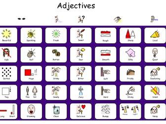 Verb, Adjective, Adverb word mats