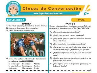 Ética - Spanish Speaking Activity