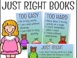 How To Choose A Just Right Book Posters Bookmarks