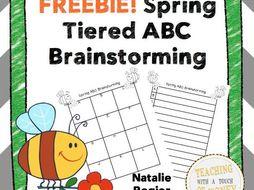 Spring ABC Brainstorming Templates FREEBIE!