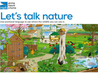 Let's Talk Nature with scenes to start conversations and develop language and vocabulary.
