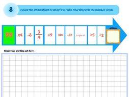 Maths Brain Teasers 1-8