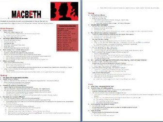 Macbeth - Themes, Structure and Context Grade 9 Study Guide