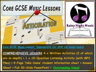 GCSE Music DYNAMICS and ARTICULATION