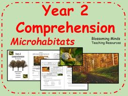 Year 2 Reading Comprehension - Microhabitats - Science