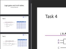 Logic gates and truth table Do Now task (retrieval practice)