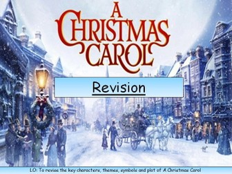A Christmas Carol Revision-Characters, Plot, Themes, Context
