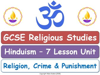 GCSE Hinduism - Religion, Crime & Punishment (7 Lessons)
