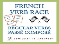 GCSE FRENCH: VERB RACE GAME Passé Composé of Regular Verbs with AVOIR