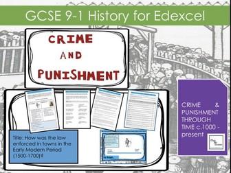 Edexcel GCSE History (9-1) Crime Punishment Lesson 12: How was law enforced in towns 1500-1700?