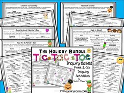 Tic Tac Toe Inquiry Based Activities The Holiday Bundle