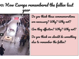 Remembrance Day - tutor time