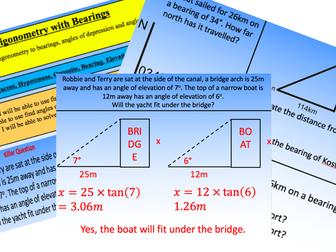 Trigonometry with Bearings