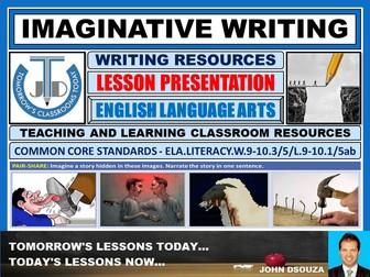 IMAGINATIVE WRITING : READY TO USE PRESENTATION