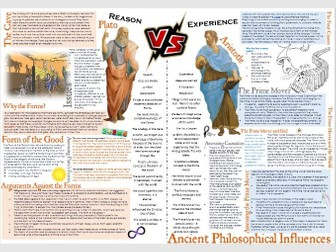 OCR Ancient Philosophical Influences Learning Mat: Plato and Aristotle