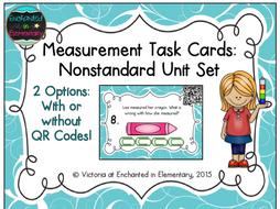 Measurement Task Cards: Nonstandard Units Set