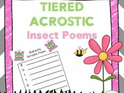 insect acrostic poems tiered writing templates by