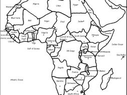 Countries of Africa   Printable worksheets with a map of Africa by