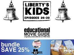 Liberty's Kids - BUNDLE - Episodes 26-30 Movie Guide | Worksheet