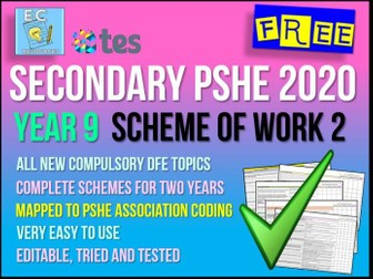 PSHE Year 9 Scheme of Work 2 - Health and Personal Safety