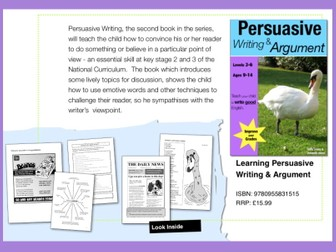 Learning Persuasive Writing & Argument (ages 9-14) Teach Your Child To Write Good English series