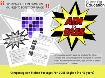 Comparing Non Fiction Passages (GCSE English Writing Work Pack) (14-16 years)