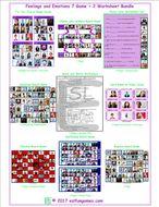 Feelings and Emotions 7 Game Plus 2 Worksheet Bundle