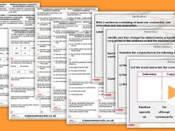 Grammar Year 6 Determiners, Conjunctions and Prepositions Autumn Block 3 Step 4 Lesson Pack