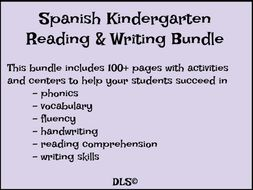 Kindergarten Reading & Writing Bundle in Spanish