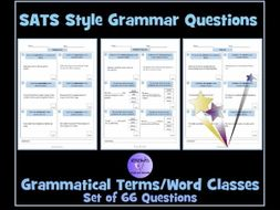 English Grammar Questions - SATS Style