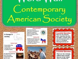 Contemporary American Society Vocabulary WORD WALL Posters (U.S.History)