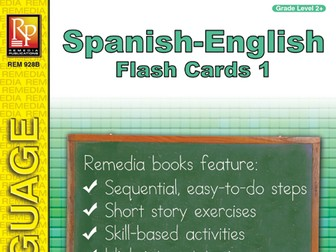 Spanish-English Vocabulary-Building Flash Cards 1