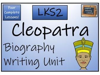 LKS2 History - Cleopatra Biography Writing Activity